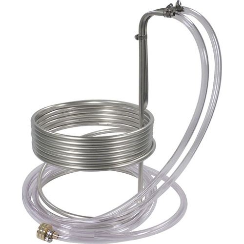 Stainless Steel Wort Chiller - 25 ft. x 3/8 in.