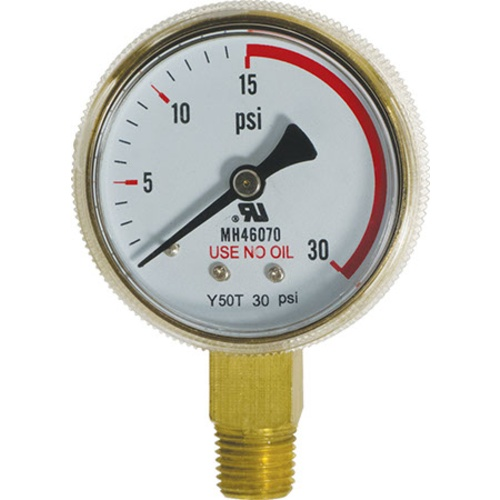 Pressure Gauge - Low Pressure (0-30 psi)