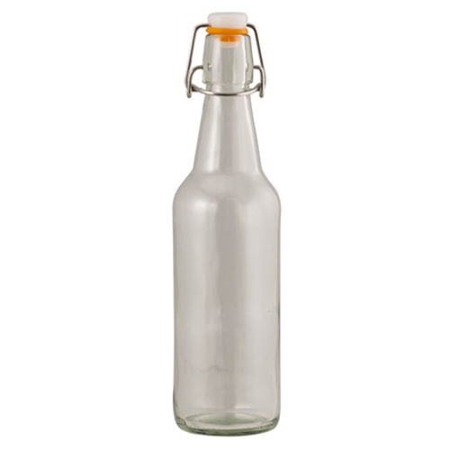 Beer Bottles Flip Top - 500 mL Clear (Case of 12)