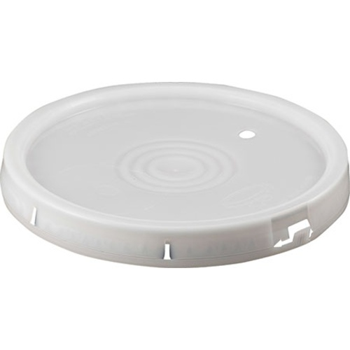 Lid for 6 Gallon Bucket - Gasket & Tear Strip - With Hole