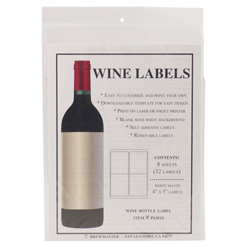 Bottle Labels - Wine - Pack of 32