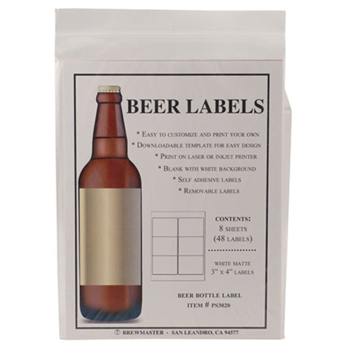 Beer Bottle Labels Pack Of MoreBeer - Beer bottle label template