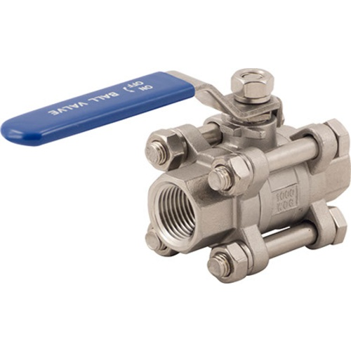 Stainless Ball Valve - 1/2 in. (3-Piece)
