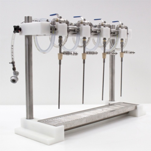 Micro Filling Systems 4 Head Counter Pressure Bottle Filler