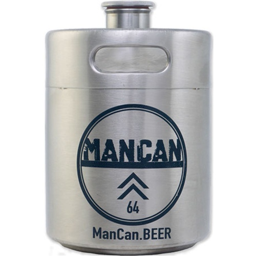 ManCan Mini Keg Growler (Stainless Steel) - 64 oz.