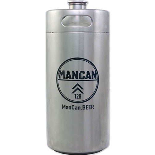 ManCan Mini Keg Growler (Stainless Steel) - 128 oz.