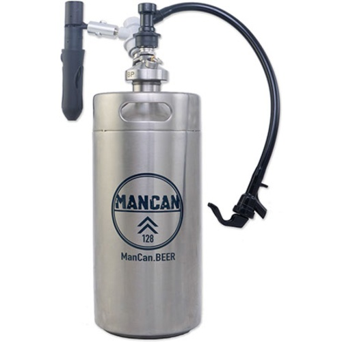 Mancan Mini Keg Growler Serving System Stainless Steel