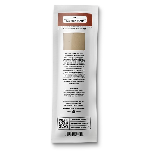 WLP008 East Coast Yeast - White Labs Yeast