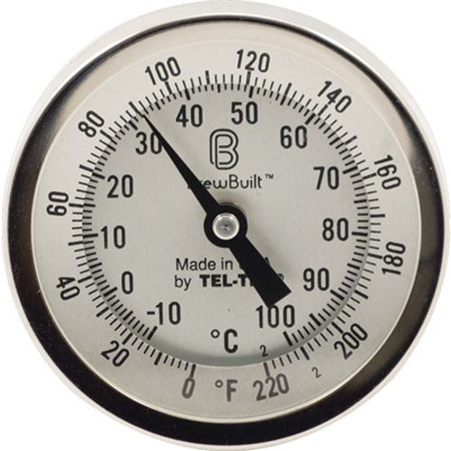 BrewBuilt™ Dial Thermometer - 3 in. Face x 6 in. Probe