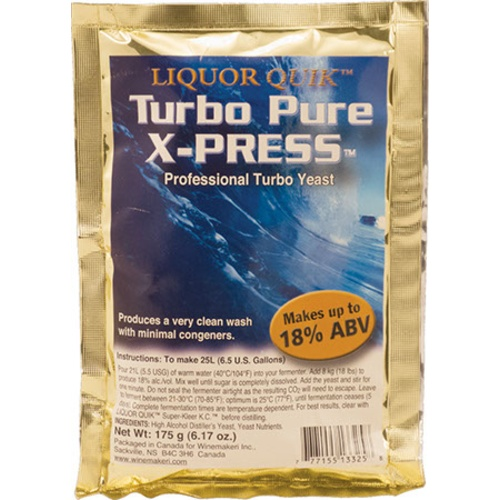 Liquor Quik Turbo Pure X-Press Distilling Yeast - 135 g
