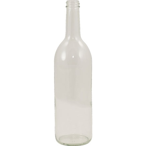 750 mL Clear Bordeaux Wine Bottles - Screw Top - Case of 12