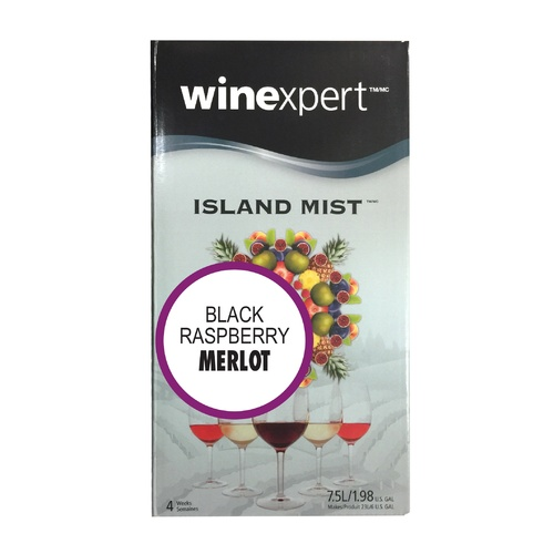 Winexpert Island Mist Black Raspberry Merlot Wine Recipe Kit