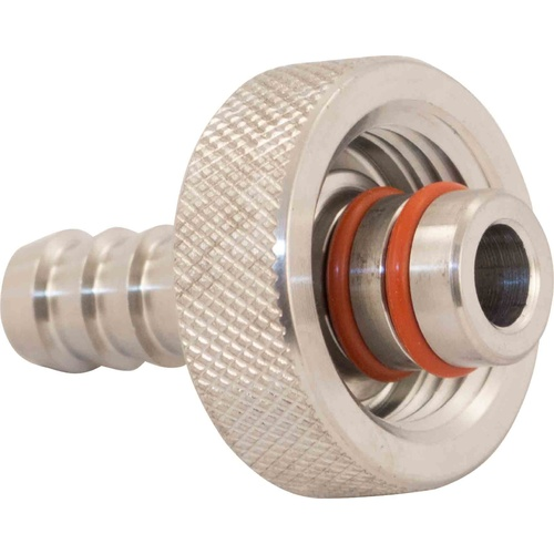 Ss Infussion Mash Tun Hose Barb - 3/8 in. to Knurled 1/2 in. FPT