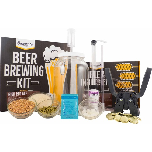 1 Gallon Homebrew Starter Kit (Includes Irish Red Ale Recipe Kit)