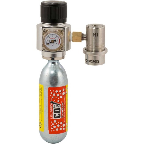 Torpedo Keg™ Pressure Pack - CO2 Regulator & Quick Disconnect