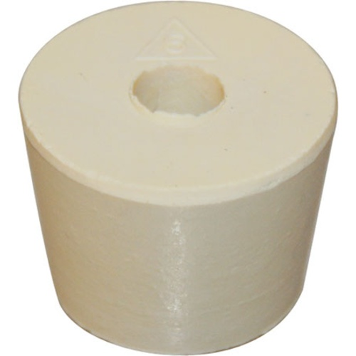 Rubber Stopper - #6 With Hole