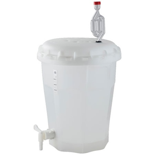 2.5 Gallon Fermenter With Lid & Spigot