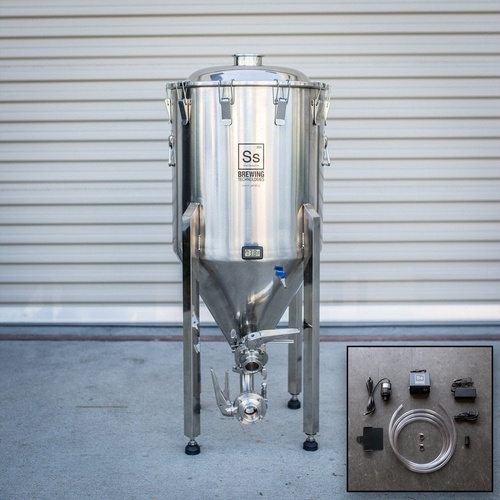 Ss BrewTech Chronical Fermenter Brewmaster Edition with FTSs Chilling Package - 1/2 bbl