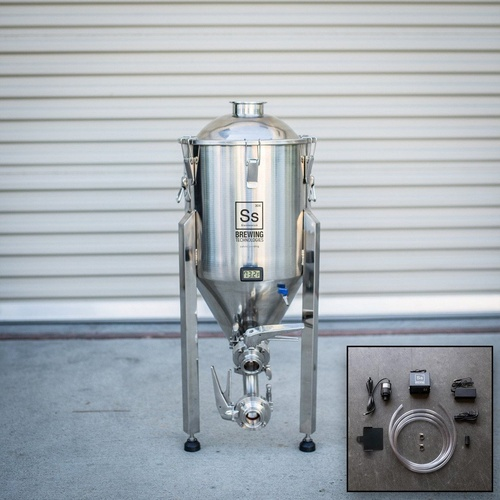 Ss BrewTech Chronical Fermenter Brewmaster Edition with FTSs Chilling Package - 7 gal.