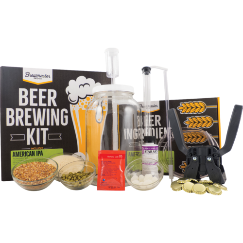 1 Gallon Homebrew Starter Kit & American IPA Recipe