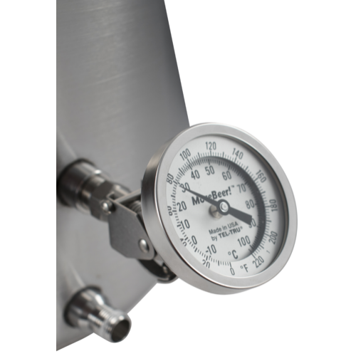 MoreBeer! Adjustable Dial Thermometer - 3 in. Face x 2 in. Probe