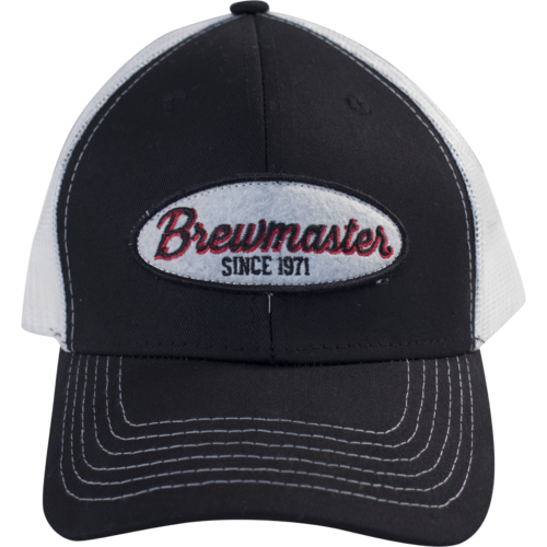 Brewmaster Hat - Black and White Mesh