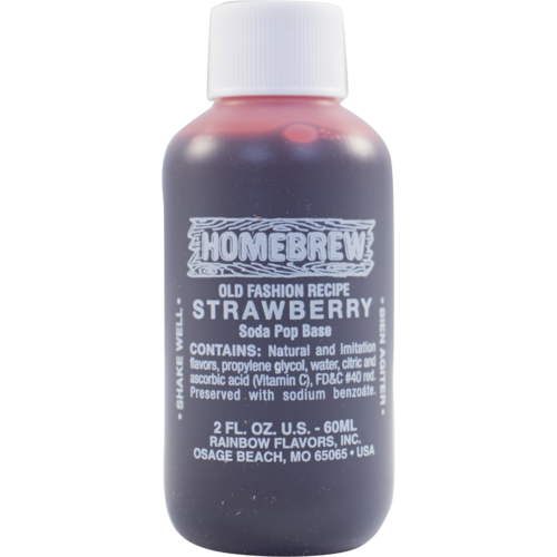Rainbow Strawberry Soda Extract - 2 fl oz.