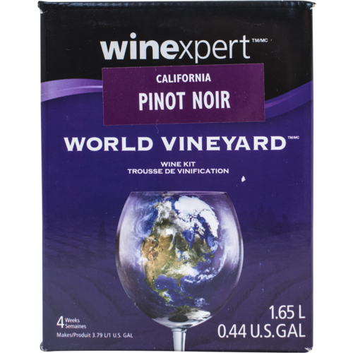 Winexpert World Vineyard California Pinot Noir 1 Gallon Wine Recipe Kit