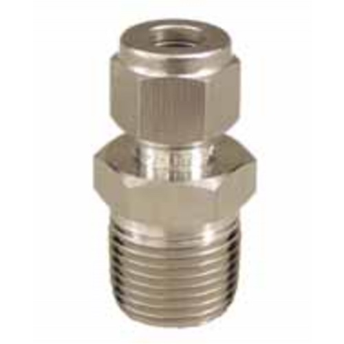 Stainless Compression Fitting - 3/8 in. x 1/2 in. MPT