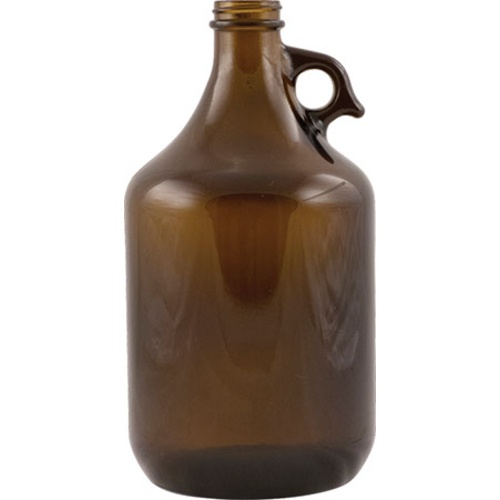 Amber Pistol Grip Beer Growler - 64 oz.