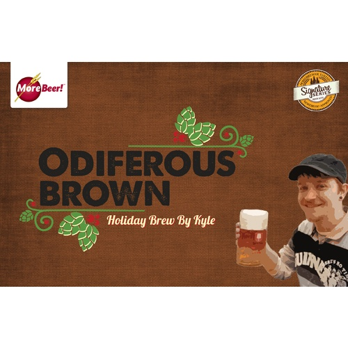 Kyles Odiferous Brown Holiday Brew - Extract Beer Brewing Kit (5 Gallons)