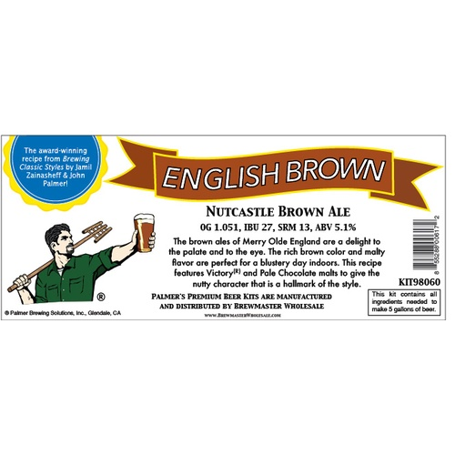 Nutcastle English Brown Ale - Palmer Premium Beer Kits