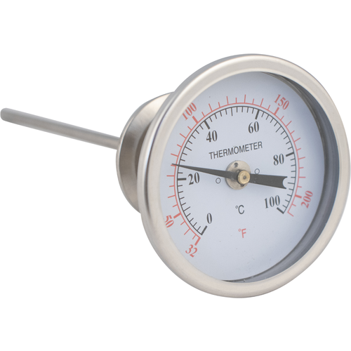 1.5 in. T.C. Thermometer - 3.25 in. Face x 7.5 in. Probe