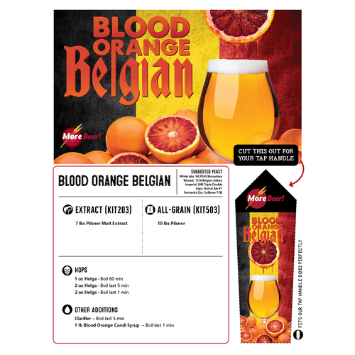 Blood Orange Belgian - All Grain Beer Brewing Kit (5 Gallons)
