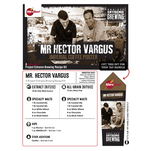 Mr. Hector Vargus Imperial Coffee Porter - All Grain Beer Kit (5 Gallons)