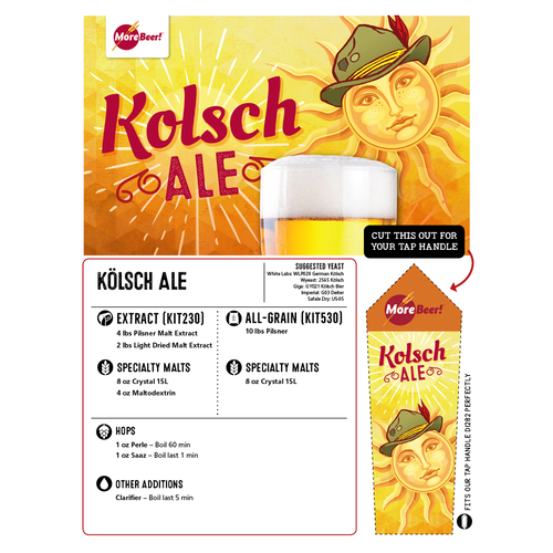 Kolsch Ale - Extract Beer Brewing Kit (5 Gallons)