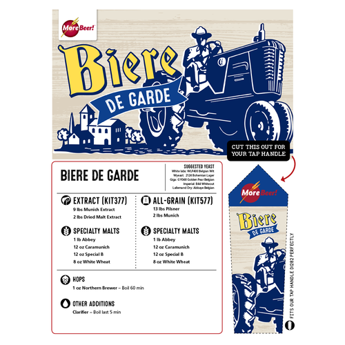 Biere de Garde Recipe - Extract Beer Brewing Kit (5 Gallons)