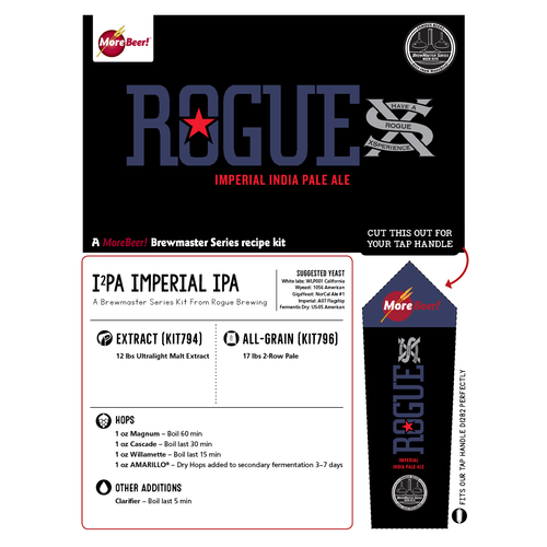 Rogues I2PA - All Grain Beer Brewing Kit (5 Gallons)
