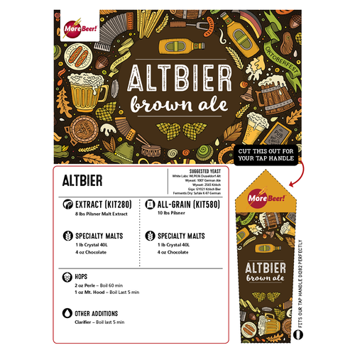 Altbier Recipe - Extract Beer Brewing Kit (5 Gallons)