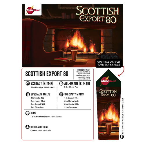 Scottish Export 80/- Ale - All Grain Beer Brewing Kit (5 Gallons)