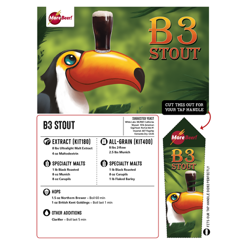 B3 Stout - All Grain Beer Brewing Kit (5 Gallons)