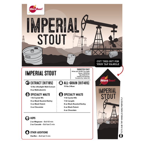 Imperial Stout - Extract Beer Brewing Kit (5 Gallons)