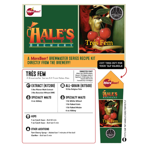 Hales Ales Tres Fem Golden Ale - All Grain Beer Brewing Kit (5 Gallons)
