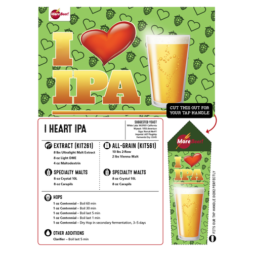 Two Hearted Ale® Clone - I Heart IPA (All Grain)