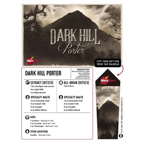 Black Butte Porter® Clone - Dark Hill Porter (All Grain)
