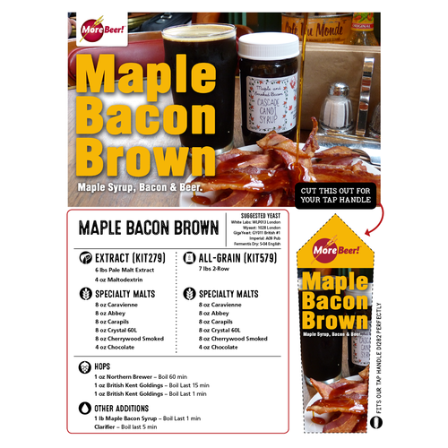 Maple Bacon Brown - All Grain Beer Brewing Kit (5 Gallons)