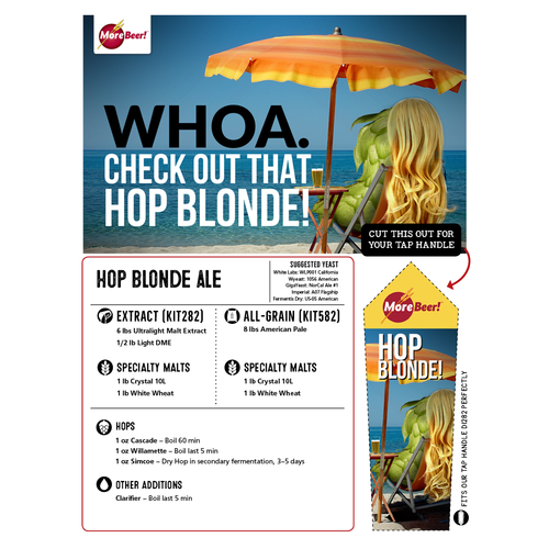 Hop Blonde - Extract Beer Brewing Kit (5 Gallons)