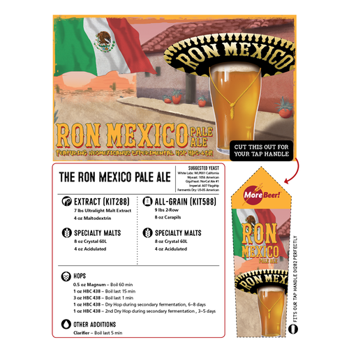 Ron Mexico Pale Ale - All Grain Beer Brewing Kit (5 Gallons)