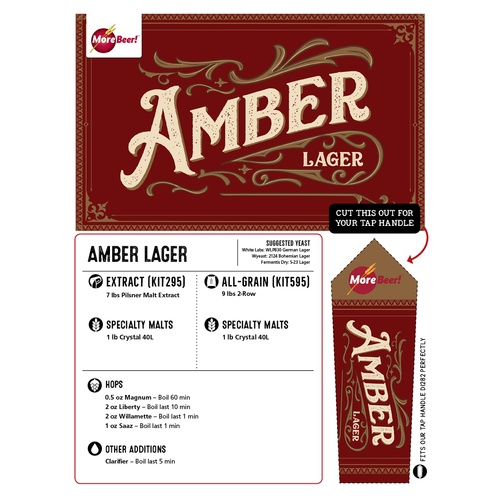 Amber Lager - All Grain Beer Brewing Kit (5 Gallons)