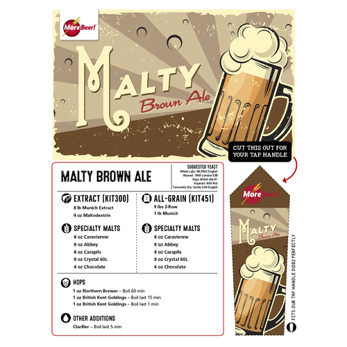 Malty Brown Ale - All Grain Beer Brewing Kit (5 Gallons)